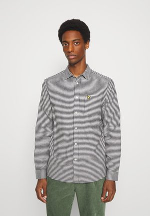 BRUSHED CHECK - Skjorta - mid grey marl