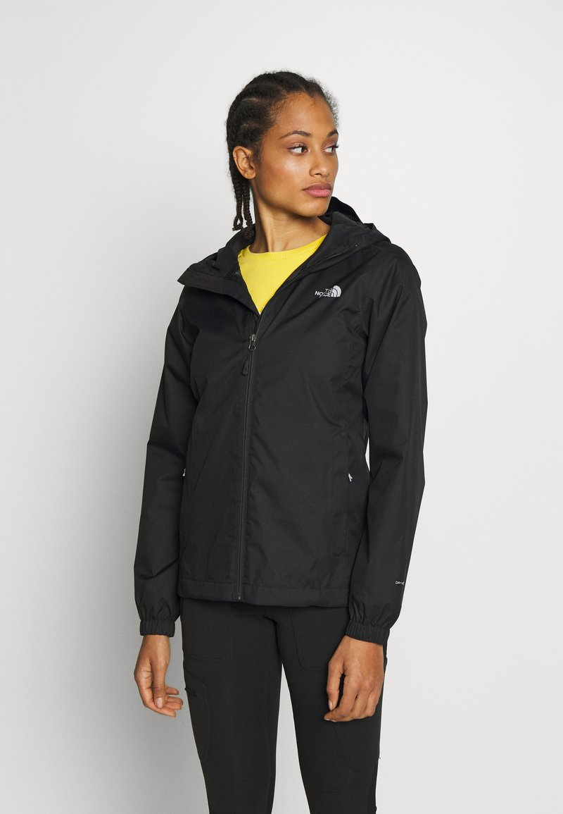 The North Face - QUEST JACKET - Chaqueta Hard shell - black/foil grey