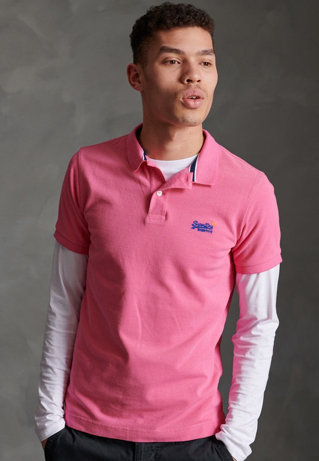 Polo shirt - shocking pink twist