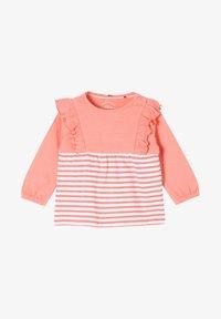 s.Oliver - MET RUCHES - Long sleeved top - light pink stripes - 0