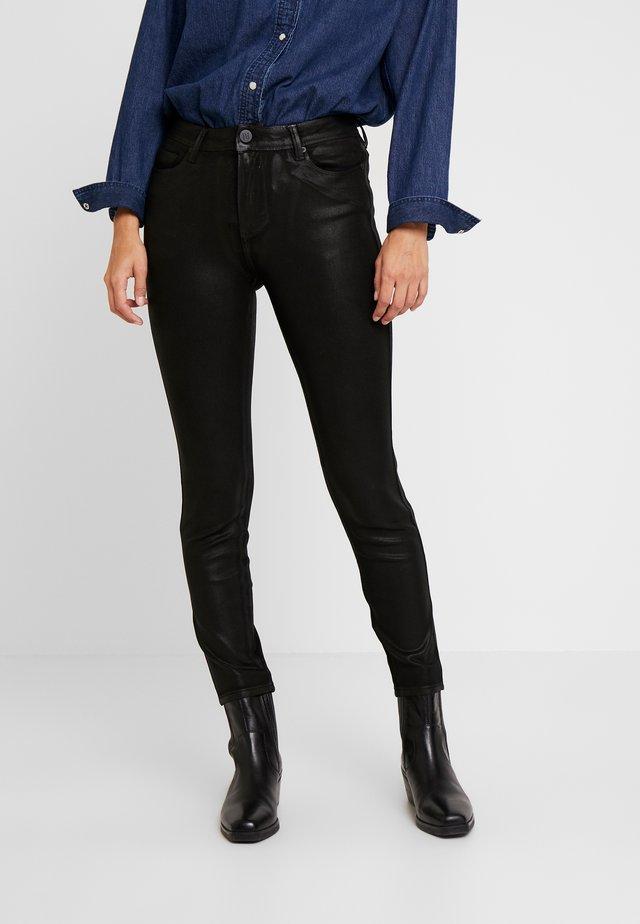 POLINE SPARKLING COATED - Jeansy Skinny Fit - black