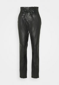 Vero Moda - VMEVA PAPERBAG ANKLE PANTS - Trousers - black - 6