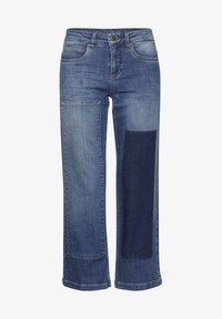 Dranella - DRLULU 1 TRACY JEANS - PATCHED JEANS - Slim fit jeans - mid blue denim - 6