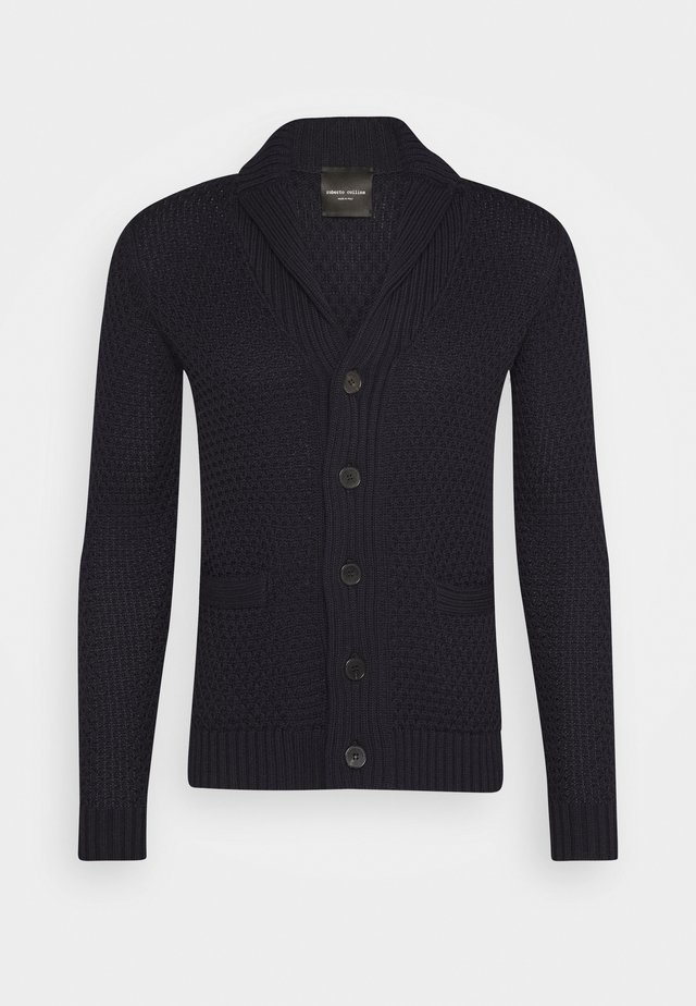GIACCA SCIALLATA - Cardigan - navy