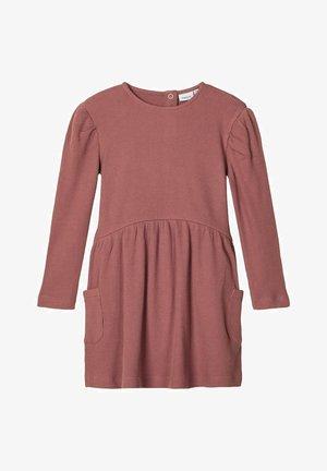 Korte jurk - marron