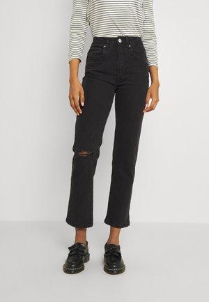 Straight leg jeans - midnight black