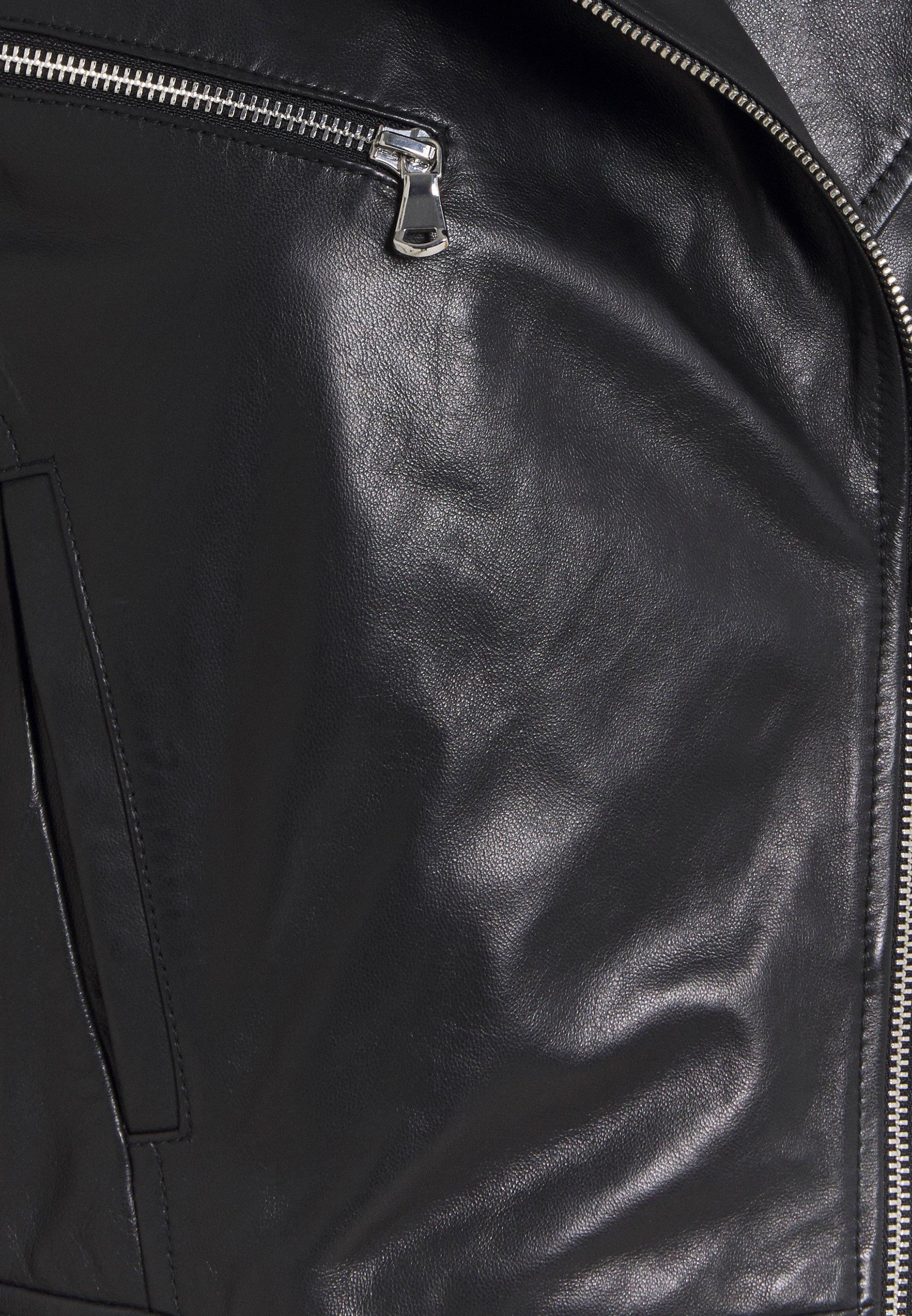 Sportmax Code ALEC Lederjacke schwarz