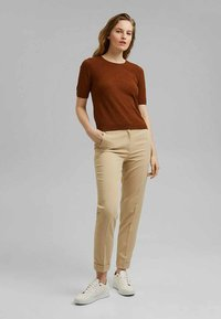 Esprit Collection - Trousers - sand - 1