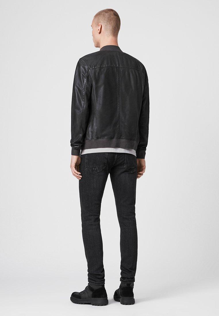 AllSaints KINO - Veste en cuir - grey