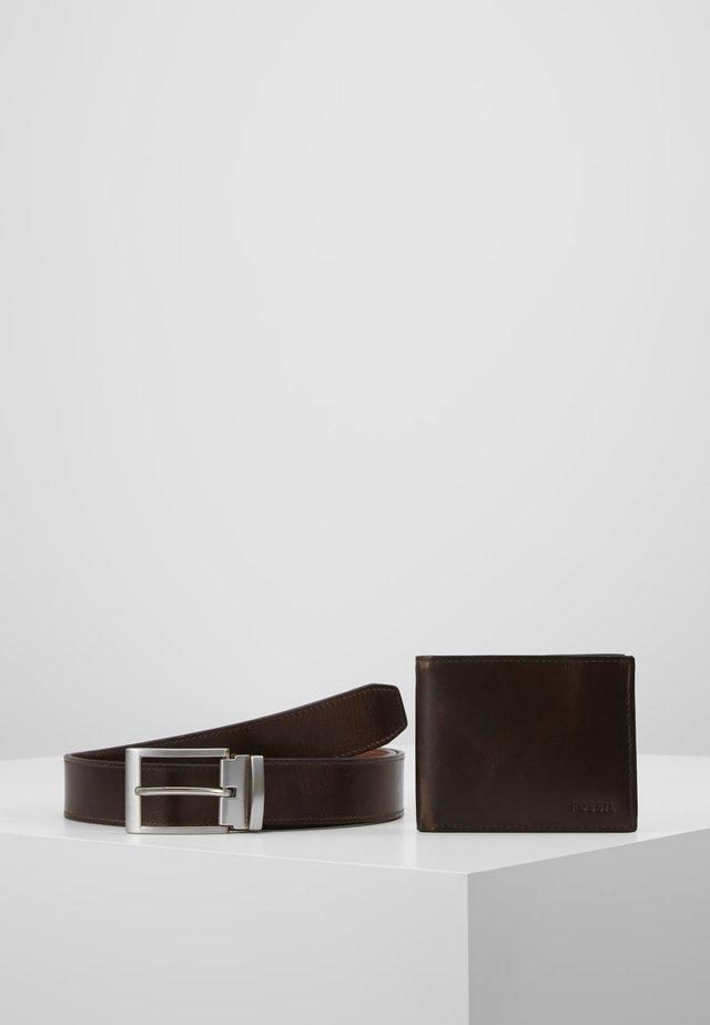 GIFT SET - Peněženka - dark brown
