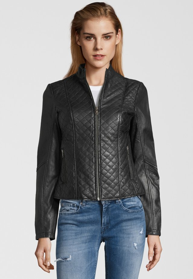 LOUIS - Leather jacket - black