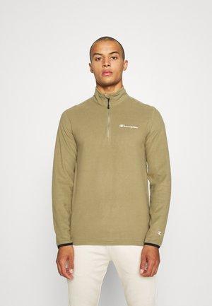 HALF ZIP - Fleece jumper - khaki