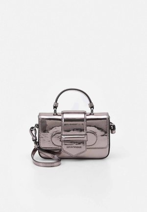 FLO METALLIC PATENT WOMENS MINIBAG - Sac bandoulière - acciaio/grafite steel/graphite