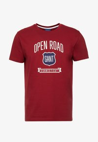 GANT - GRAPHIC  - Print T-shirt - mahogny red - 3