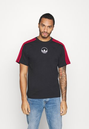 STRIPE CIRCLE - Print T-shirt - black