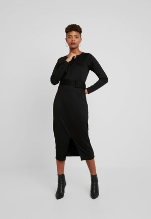 KATE BELT - Pouzdrové šaty - black