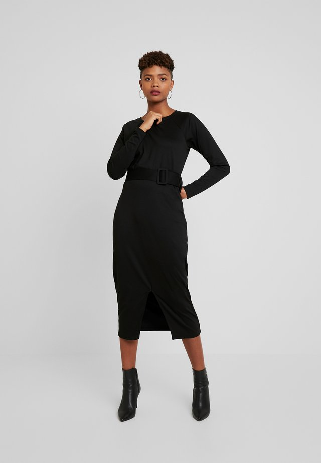 KATE BELT - Shift dress - black