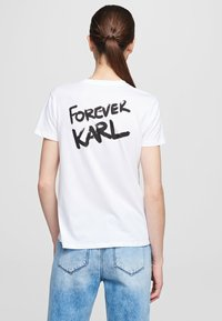 KARL LAGERFELD - FOREVER KARL - Print T-shirt - white - 2