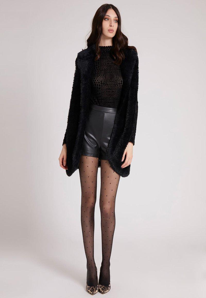 Guess - Faux leather jacket - schwarz