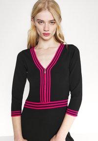 Morgan - Shift dress - noir/bonbon - 3