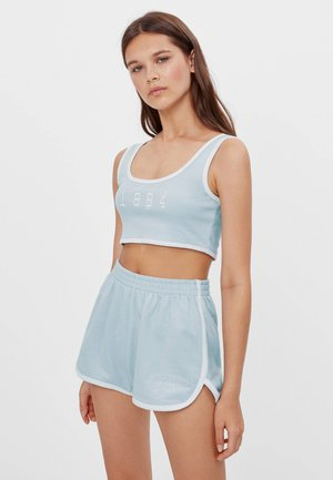 PATENTMUSTER UND KONTRASTEN  - Shortsit - light blue