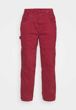 COMBAT TROUSERS - Trousers - burgundy