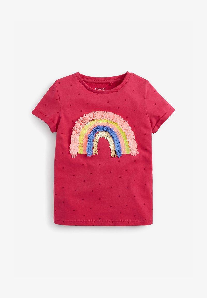 Next - CONFETTI RAINBOW - Print T-shirt - pink