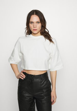 CROSBY - Basic T-shirt - ecru
