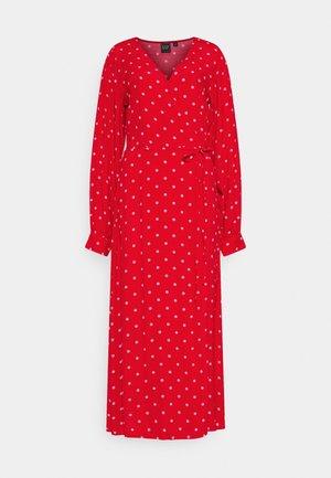 WRAP DRESS - Denní šaty - red