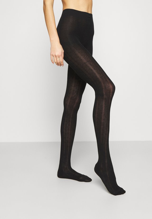 PLAIT - Collants - black