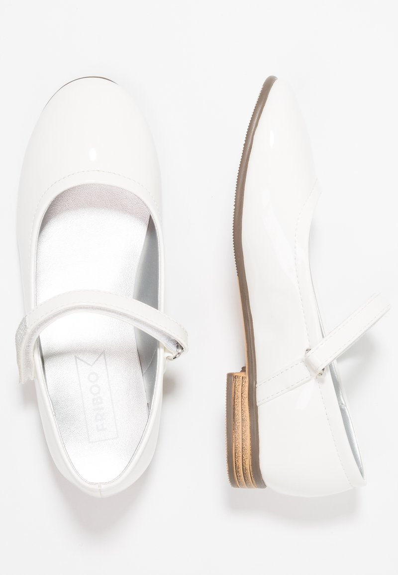 Friboo - Ankle strap ballet pumps - white