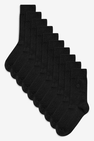 SOCKS TEN PACK - Strumpor - black