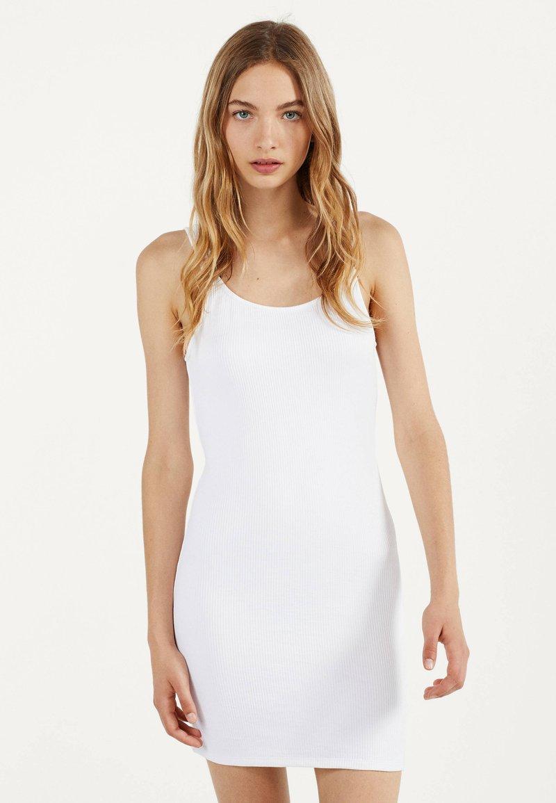 Bershka - Shift dress - white