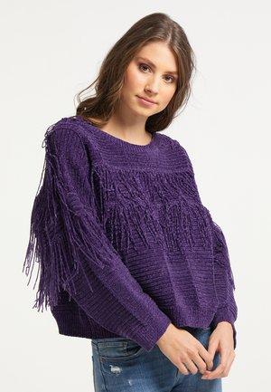 Sweter - dunkellila