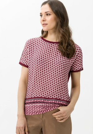 STYLE CAELEN - Print T-shirt - bordeaux