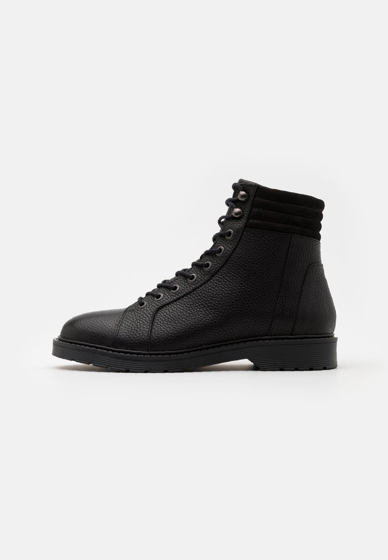 Selected Homme - SLHTIM HIKING BOOT - Šněrovací kotníkové boty - black