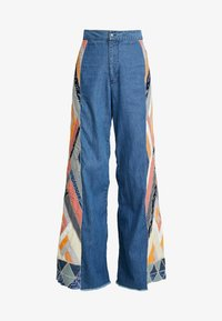 STICK BY YOUR SIDE PATCHE - Flared jeans - navy