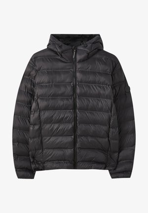 MIT KAPUZE UND APPLIKATIONEN - Winter jacket - black