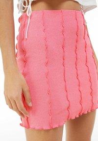 Bershka - A-line skirt - pink - 3