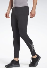 Reebok - THERMOWARM TOUCH BASE LAYER BOTTOMS - Tights - black - 0