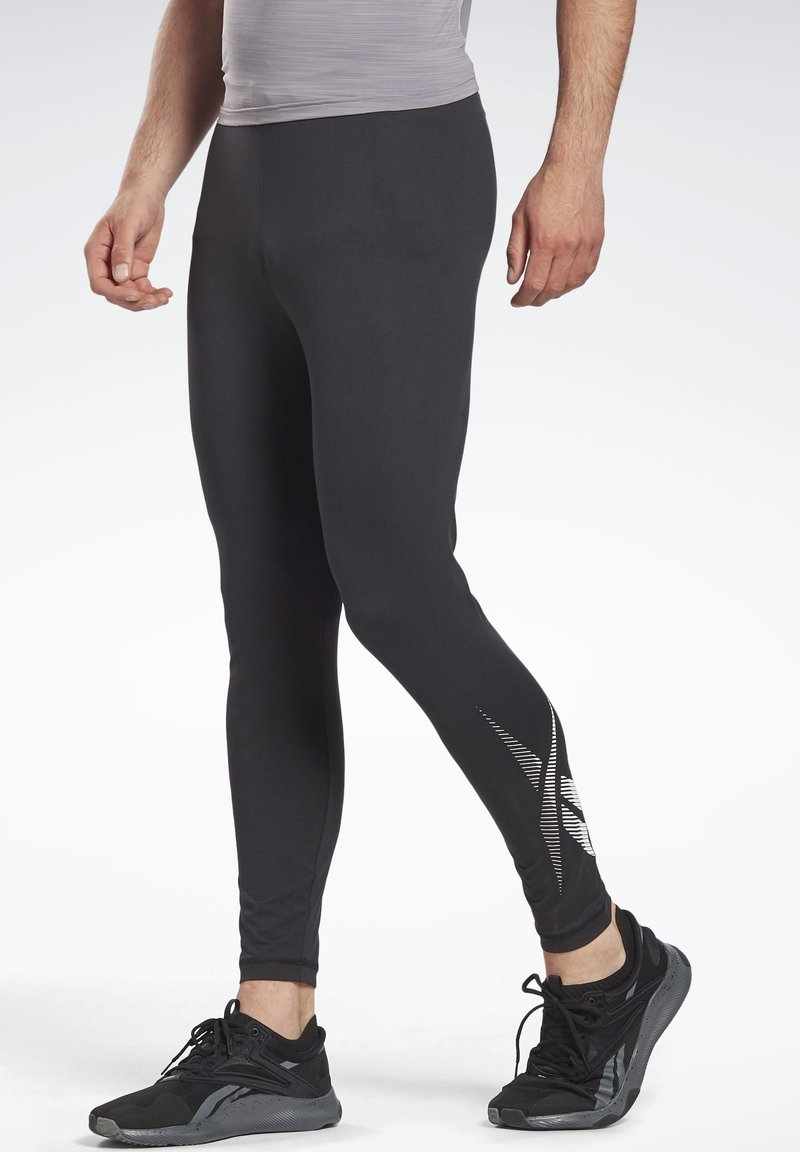 Reebok - THERMOWARM TOUCH BASE LAYER BOTTOMS - Tights - black