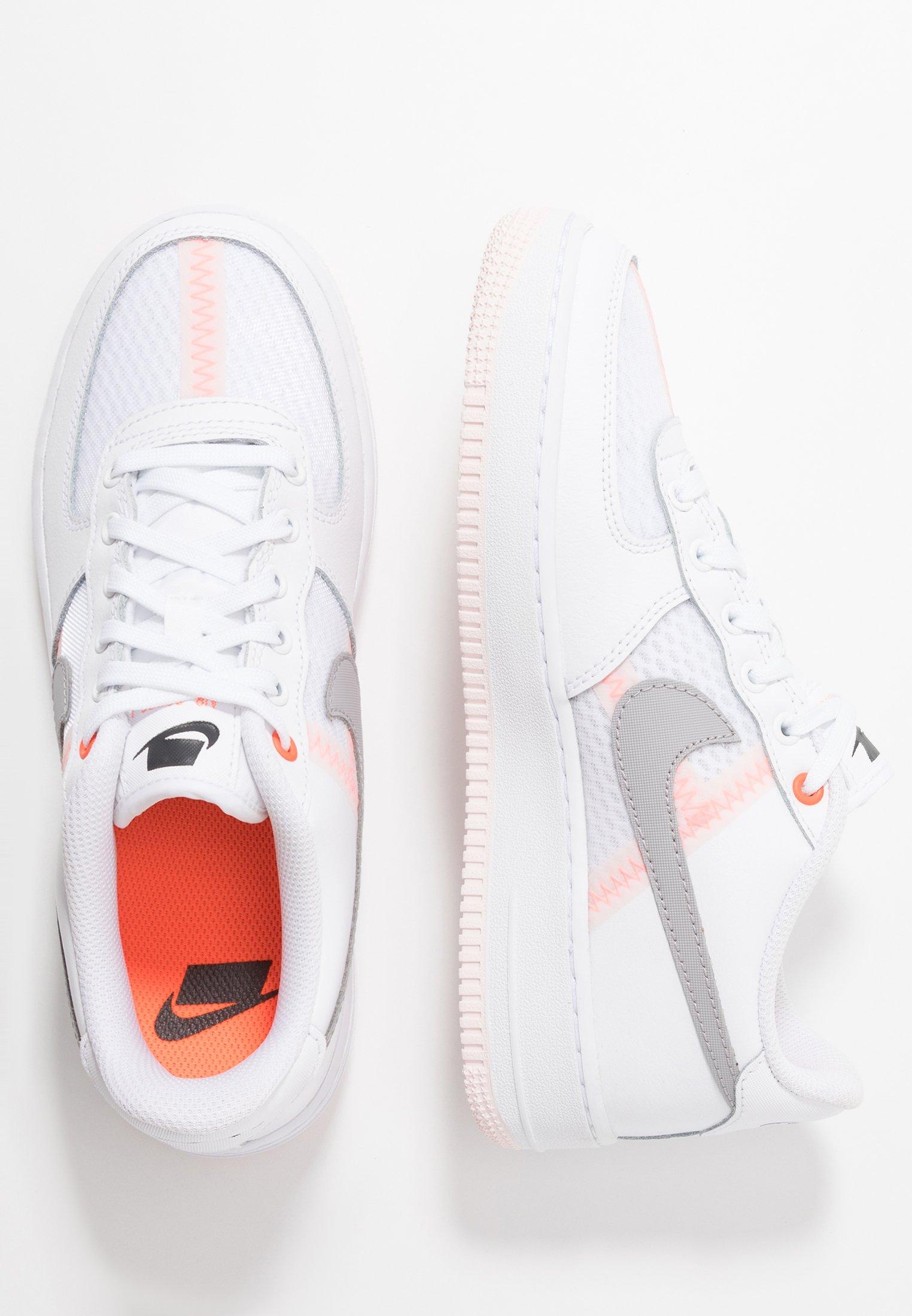 Nike Sportswear Air Force 1 Lv8 Sneaker Low White Atmosphere Grey Off Noir Hyper Crimson Light Soft Pink Weiß Zalando De