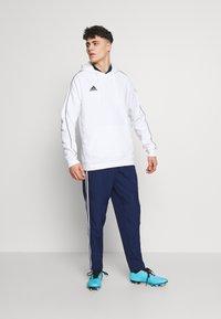 adidas Performance - CORE ELEVEN FOOTBALL HODDIE SWEAT - Felpa con cappuccio - white - 1