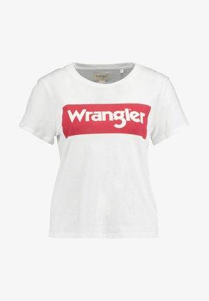 BOX LOGO TEE - T-shirt print - off white