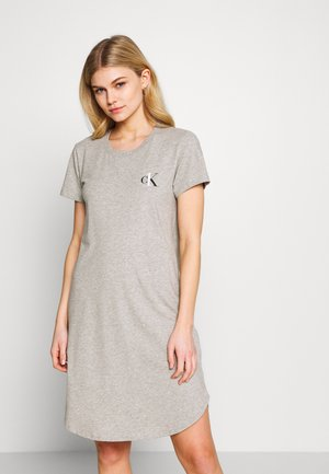 CK ONE LOUNGE NIGHTSHIRT - Nightie - grey heather