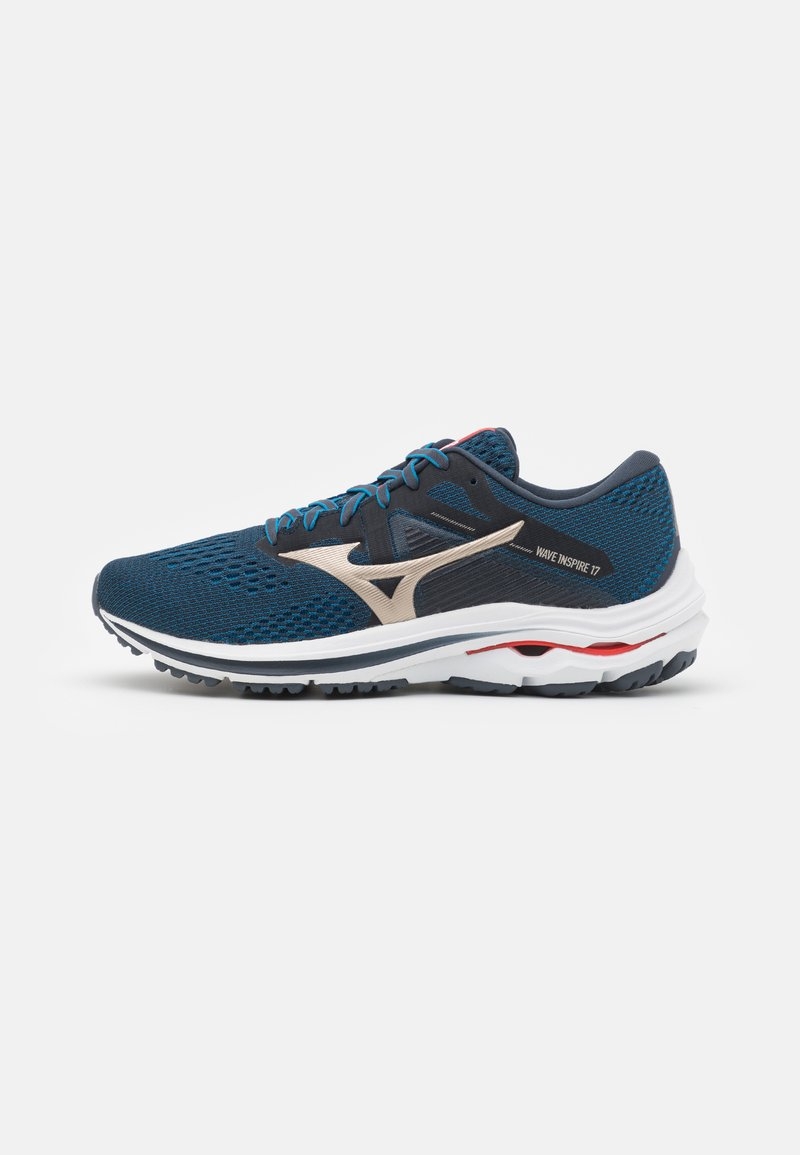 Mizuno - WAVE INSPIRE 17 - Stabilty running shoes - india ink/platinum gold/ignition red