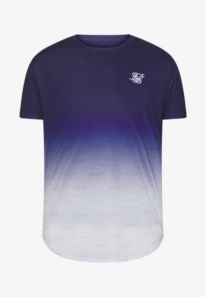 SHADOW FADE - T-shirt con stampa - navy/white