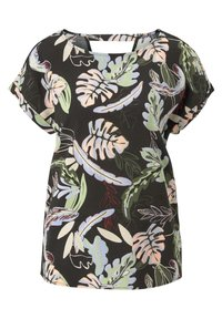 black tropical print