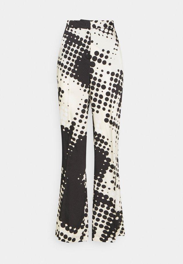 PANTALONE PALAZZO - Kalhoty - graphic dots/nero