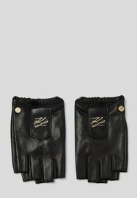 KARL LAGERFELD - Fingerless gloves - black/gold - 1